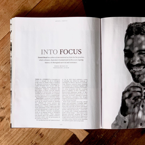 Daniel Boyd in Art Collector Magazine