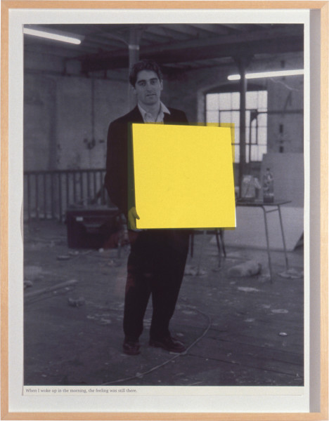 Angus Fairhurst When I Woke up in the Morning, the Feeling was Still There, 1992; three colour screen-print with varnish; 86.5 x 65.8 cm; Edition of 65; enquire