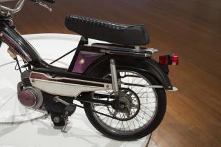 Marley Dawson Slow Burn (full circle), 2013; 1979 Motobecane moped, steel, mechanics, electrics, MDF, timber; 122 x 241 x 241 cm; enquire