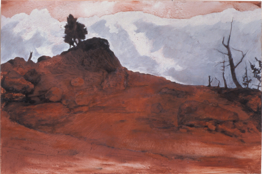 Mandy Martin Absence and Presence 4, 2004; ochre, pigment and oil on linen; 100 x 150 cm; enquire