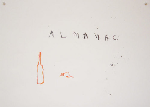 Tracey Emin Almanac, 2003; black and red ink on paper; 21 x 30 cm; enquire
