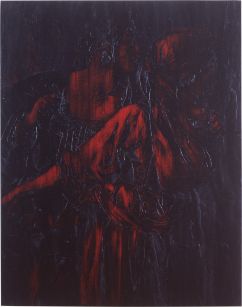 Lindy Lee Virtue, Moral Order and the Discretion of Human Gesture, 1991; oils and wax on canvas; 191 x 151.5 cm; enquire