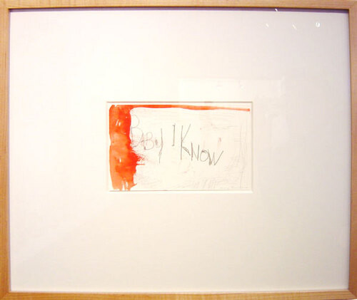 Tracey Emin Baby I know, 2000; watercolour and pencil on paper; 13 x 20.5 cm; 45 x 52 cm (frame); enquire