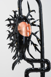 Caroline Rothwell Miss Jekyll (after K Blossfeldt) (detail), 2018; Hydrostone, canvas, epoxy glass, copper, aluminium; 110 x 38 x 38 cm; Enquire