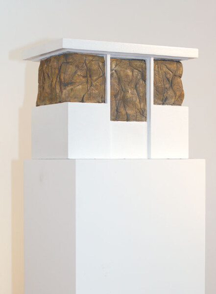 Callum Morton Booth, 2005; from the series Exhibited in 'If these walls could talk', 2005; high density foam, shellac and acrylic; 38 x 52 x 34 cm; enquire