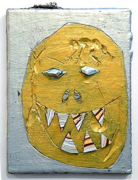 Rohan Wealleans Gem Monster, 2005; paint on wood; 41 x 30.5 x 5.5 cm; enquire