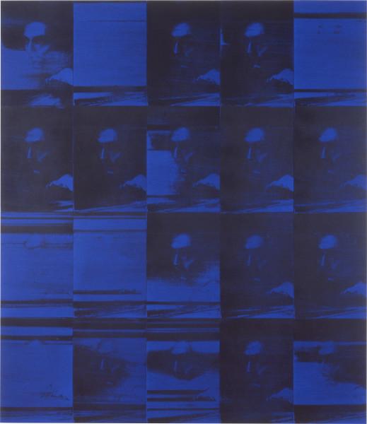 Lindy Lee Evanescence + Transmission, 1995; photocopy and acrylic on Stonehenge paper; 164 x 143 cm; 20 panels; enquire