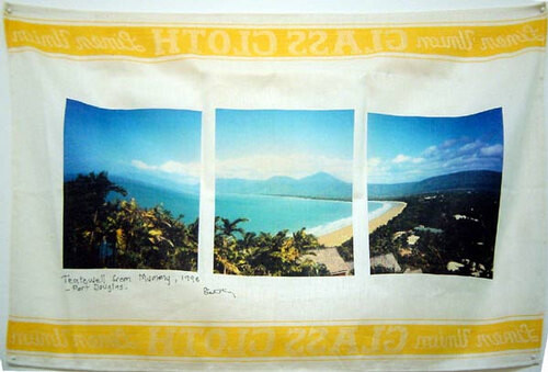 Destiny Deacon Teatowell from Mummy, 1998 - Port Douglas, 1998; Inkjet print on teatowel; 52 x 77 cm; Edition of 15; enquire