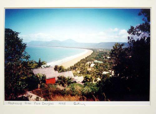 Destiny Deacon Postcard from Port Douglas, 1998; colour laser print; 29.7 x 42.2 cm; Edition of 15; enquire