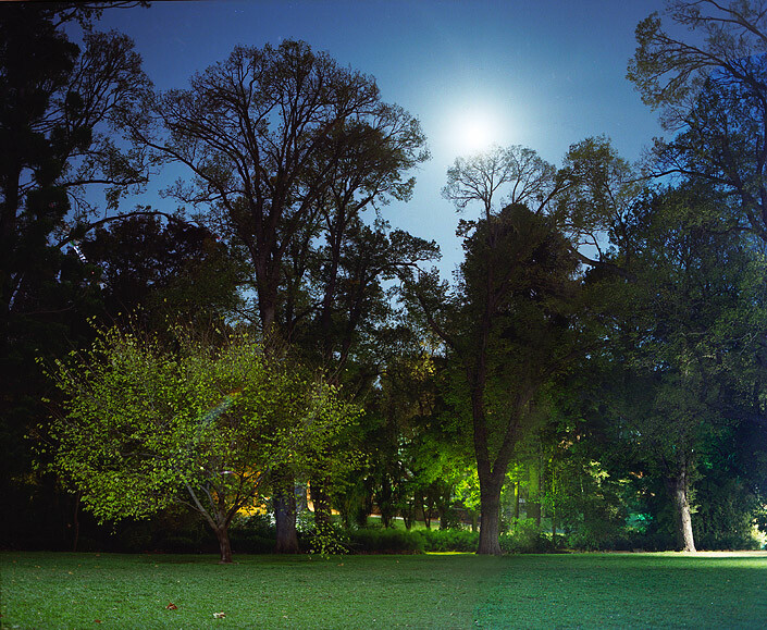 Anne Zahalka Fitzroy Gardens at Night, Hotel Suite, 2008; Type C print; 75 x 92.5 cm; enquire