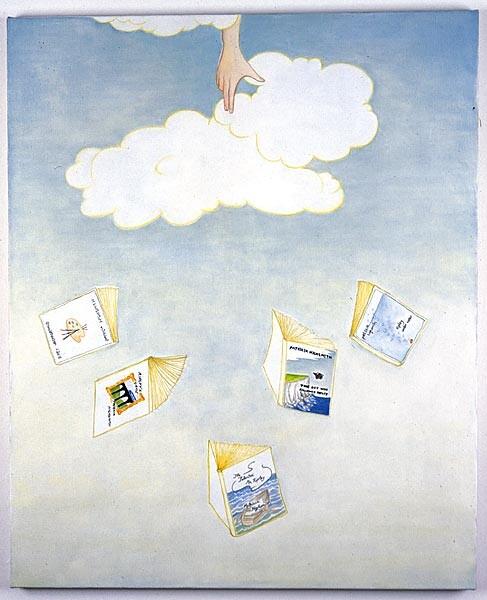 Vivienne Shark LeWitt There Are Five Ripley Novels, 2001; oil on linen; 120 x 92 cm; enquire