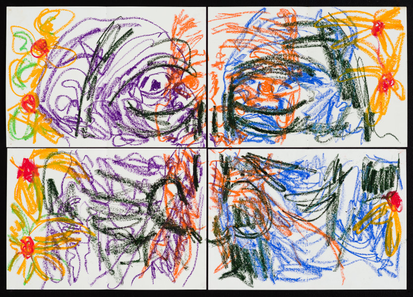 Pierre Mukeba (Emotions of colour), 2020; charcoal and pastel on archival paper; 60 x 84 cm; enquire