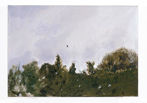 Linda Marrinon Windy Day in Brunswick, 1996; Oil on canvas; 51 x 36 cm; enquire