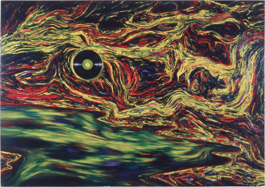 Dale Frank The Bloated Sea (Full Moon from the Warren), 1984; acrylic on canvas; 180 x 270 cm; enquire