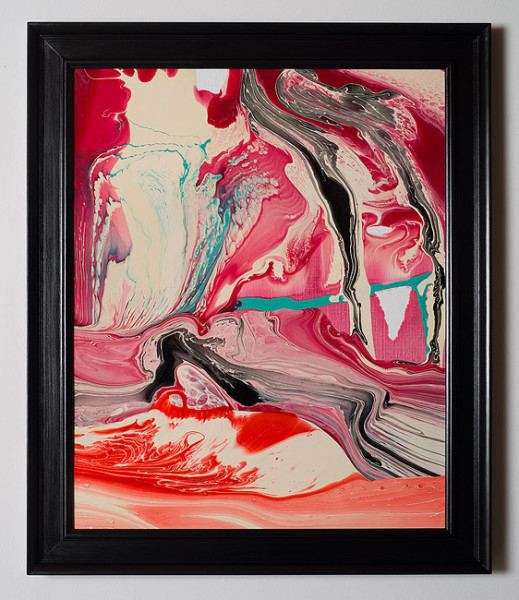 Dale Frank Conservative Institutional Beauty #13, 2012; Varnish on canvas; 87 x 74 cm; (framed); enquire
