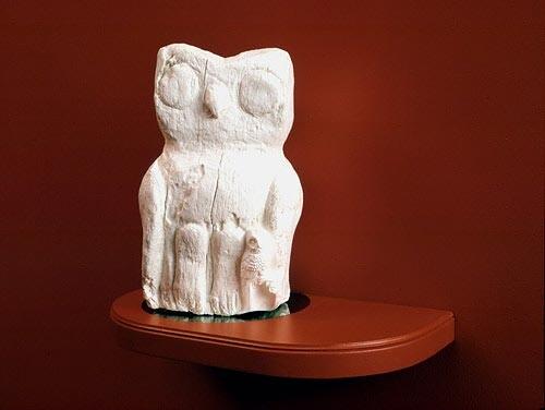 David Noonan Owl, 2003; high density urethane plastic; 32 x 20 x 20 cm; Edition of 13; enquire