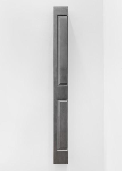 Jim Lambie Closer (Heart and Soul), 2018; wood, spray paint; 198 x 18.5 x 18.5 cm; 25 Kg; enquire