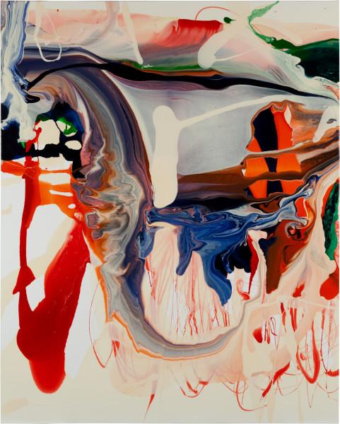 Dale Frank Araucaria Bidwillii Dodgy Dog, 2011; varnish on canvas; 160 x 200 cm; enquire