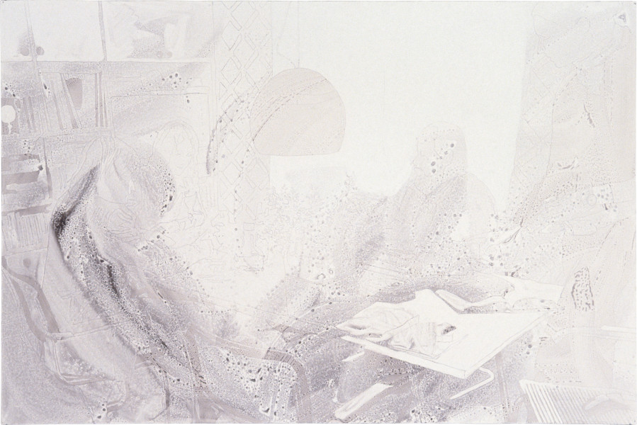 Sadie Murdoch Paradise Glossed #2, 1996; ink, detergent and gloss paint on foamcore; 100 x 153 cm; enquire