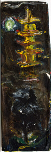 Tony Clark Chinoiserie Landscape, 1988; oil on canvas mounted on cardboard; 57 x 18 cm; enquire