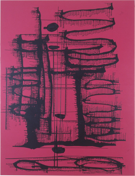 Dale Frank Don't Bandy my life around or tell sad Brugge stories, 2000; acrylic on linen; 260 x 200 cm; enquire