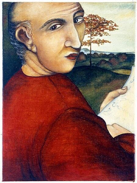 Vivienne Shark LeWitt The Third Man, 1986; oil on linen; 40.8 x 30.6 cm; enquire