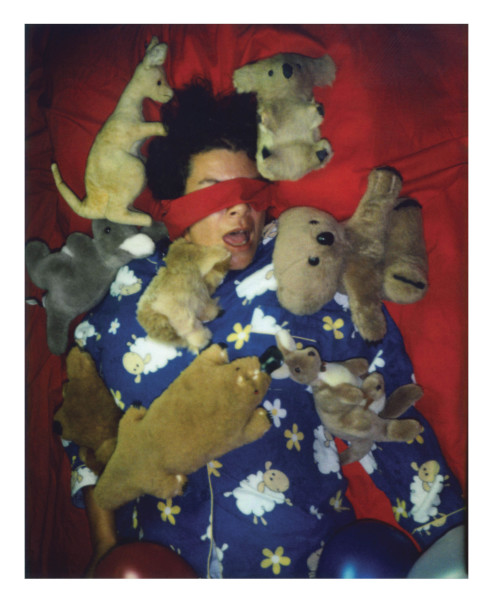 Destiny Deacon Slumber party B, 2006; lightjet print from Polaroid original; 100 x 80 cm; Edition of 8 + 2 APs; enquire