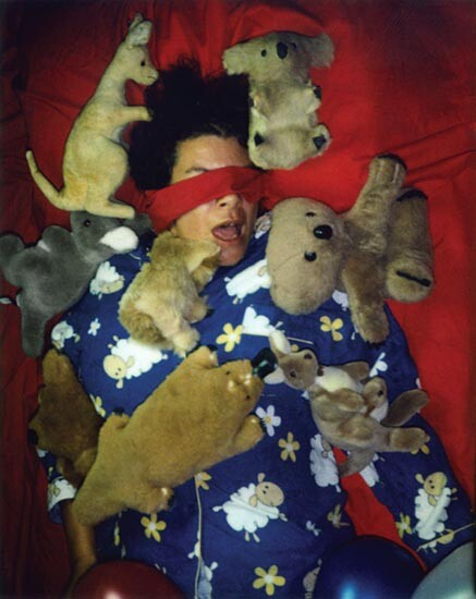 Destiny Deacon Slumber party B, 2006; lightjet print from Polaroid original; 100 x 80 cm; Edition of 8 + 2 APs; enquire