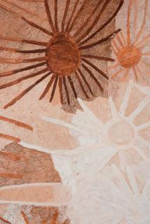 Nyapanyapa Yunupingu Ganyu (detail), 2020; 2071-20; natural earth pigments on board; 240 x 360 cm; enquire