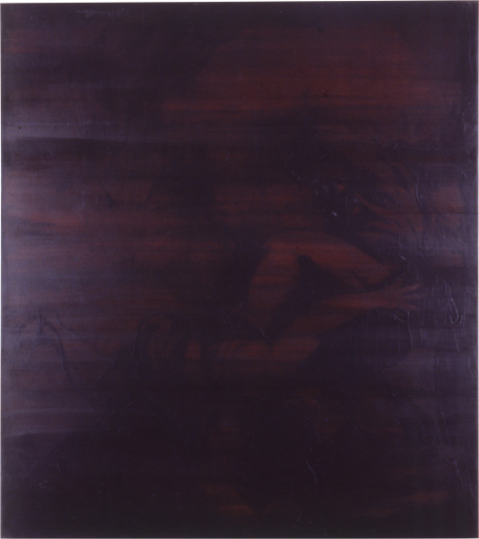 Lindy Lee Of Voluntary Death, 1987; oils and wax on canvas; 173 x 155.5 cm; enquire