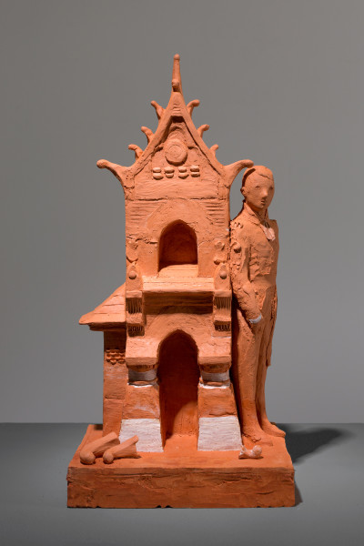 Linda Marrinon Frank Furness, Centennial Bank, 2018; terracotta; 37 x 18 x 15 cm; enquire