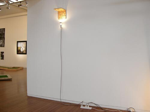 Christopher Hanrahan Don't Tell Me I'm Telling You, 2006; plywood and light fitting; 21 x 20 x 20 cm; enquire