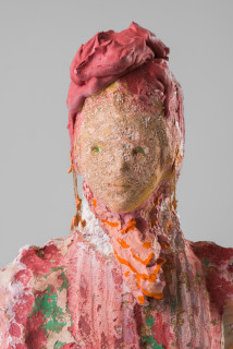 Linda Marrinon Woman with coral earrings (detail), 2020; plaster, foam; 48 x 29 x 25 cm; enquire