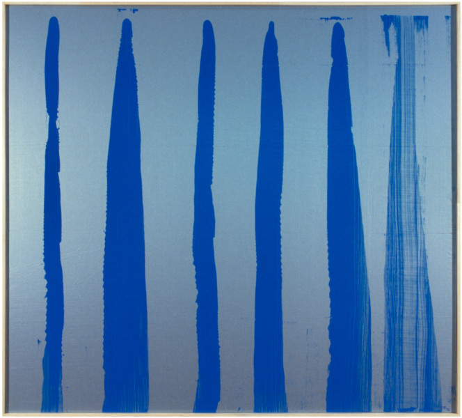 Dale Frank Stephan Allbright and Michael Woodcock never changed their names, 1998; acrylic on u.v. protected woven Chinese fibreglass; 185 x 205 cm; enquire
