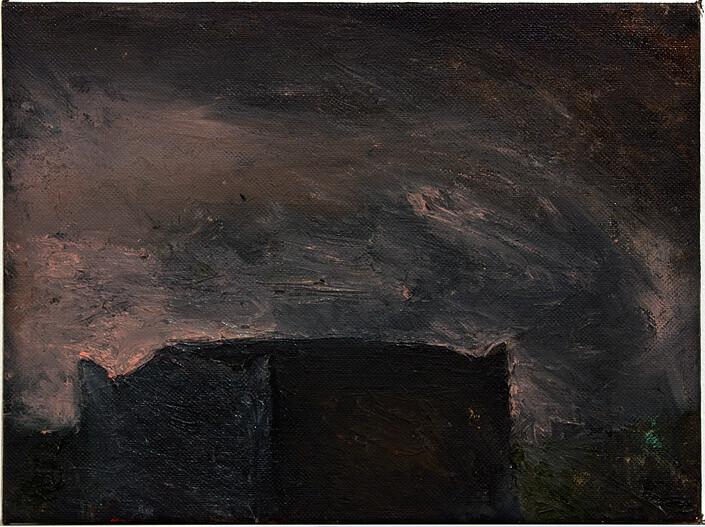 Tony Clark Tomb, 1982; oil on canvas; 22.5 x 30.5 cm; enquire