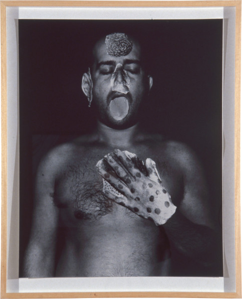 Mark Quinn Template for my Future Plastic Surgery, 1992; four colour screen print with varnish; 86 x 68 cm; Edition of 65; enquire