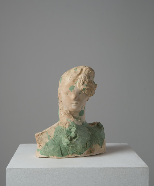 Linda Marrinon Mother, 2014; tinted and painted plaster; 28.5 x 22 x 19 cm; enquire