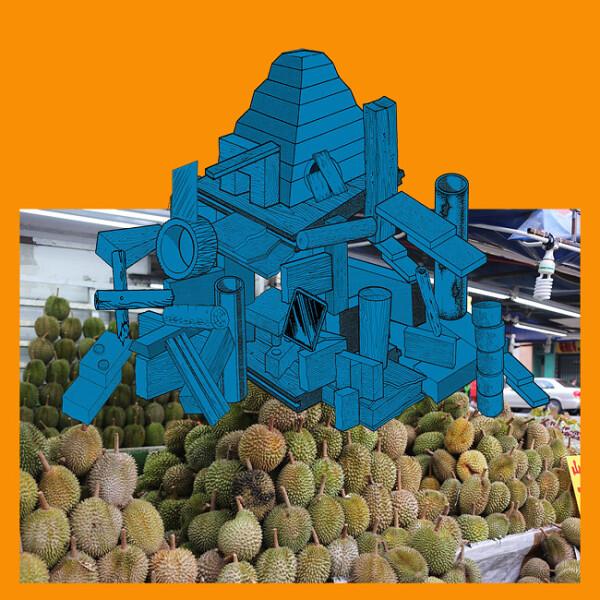 Teppei Kaneuji Games, Dance and the Constructions (Singapore) #10-B, 2013; Screen print,archival ink jet print, plexiglas, cotton rag paper ; 94.5 x 94.5 x 4.5 cm; enquire