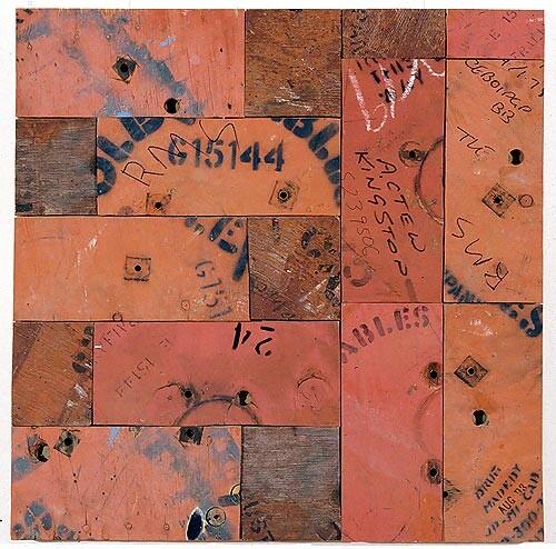 Rosalie Gascoigne The Apple Isle, 1994-95; sawn wood on craftboard; 85 x 84 cm; enquire