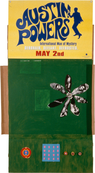 Dale Frank Austin Powers, 1997; mixed media on cardboard; 244 x 135 cm; enquire