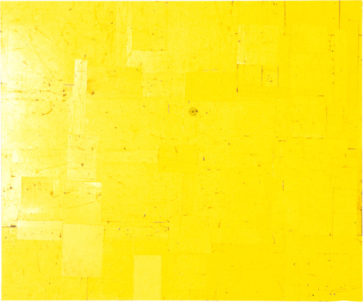 Rosalie Gascoigne Grasslands II, 1998; retro reflective roadsign on wood; 135 x 166 cm; enquire