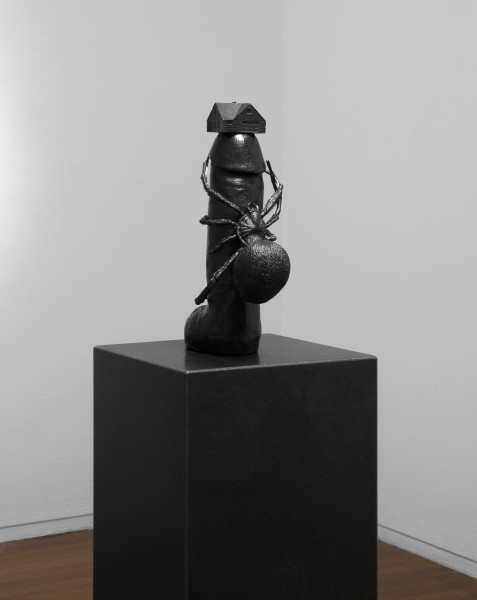 Del Kathryn Barton up in this, 2012; bronze, granite