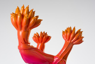 Patricia Piccinini Shoeform (Sprout) (detail), 2019; resin, automotive paint; 60 x 35 x 37 cm; Edition of 3 + 1 AP; enquire