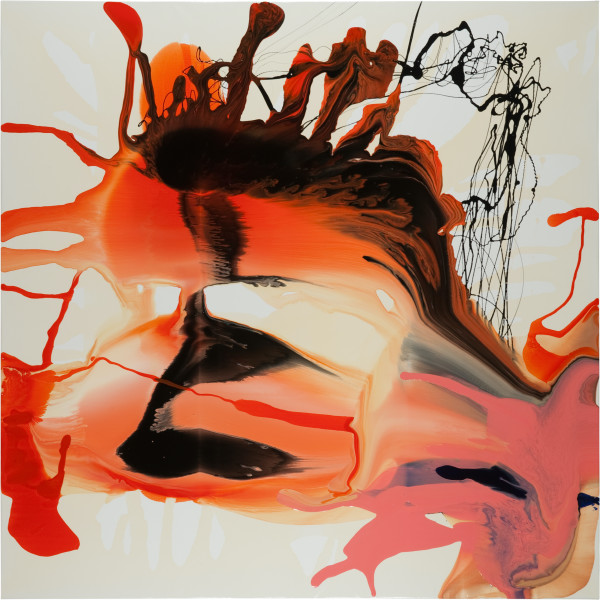 Dale Frank Isoplexis Canariensis Love Armada, 2011; varnish on canvas; 200 x 200 cm; enquire