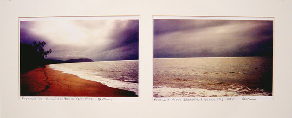 Destiny Deacon Postcard from Bloomfield Beach (A) (B), 1998; 2 colour laser prints; 21 x 29.7 cm; Edition of 15; enquire
