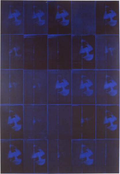Lindy Lee Zip, 1994; photocopy and acrylic on Stonehenge paper; 205 x 143 cm; 25 panels; enquire