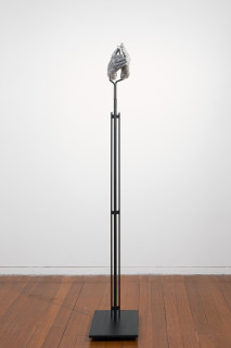 Julie Rrap Instrument: Clapping, 2015; cast aluminium and steel; 156 x 35 x 25 cm; Edition of 5 + AP 1; enquire