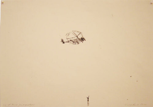 Tracey Emin One of those great goodbyes, 1997; black ink on paper; 30 x 42 cm; enquire