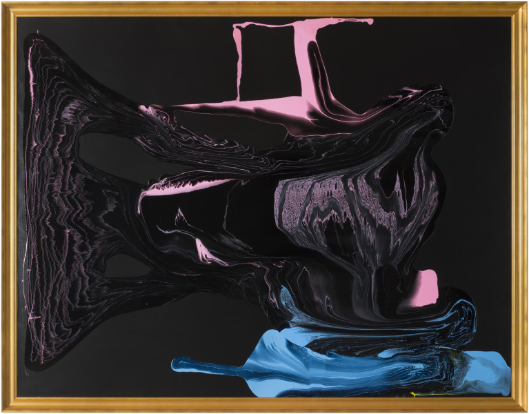 Dale Frank Emphysema feathered his appetites, 2013; varnish on canvas; 214 x 274 cm; enquire