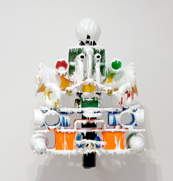 Teppei Kaneuji White Discharge (Built-up Objects #18), 2011; found objects, resin, glue; 65 x 50 x 55 cm; enquire